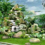 Hòn non bộ phong thủy với thiết kế kiến trúc sân vườn cực đẹp cực thịnh
