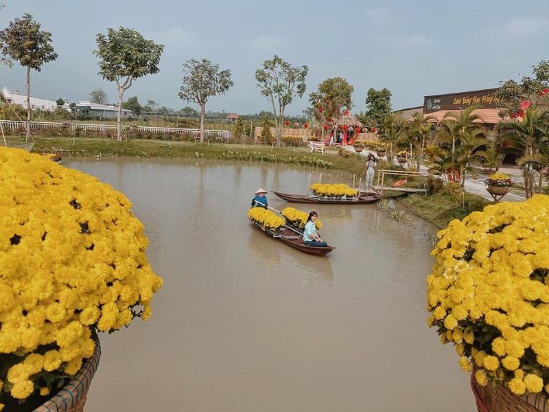 làng hoa dưới nước